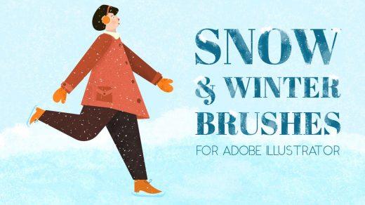 适用于Adobe Illustrator的雪刷和冬季刷AI笔刷包含30个功能强大笔刷。缩略图