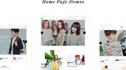 1992 | Creative eCommerce PSD是服装购物创意电子商务PSD模板缩略图