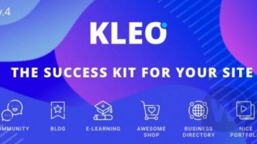 KLEO v4.9.20 NULLED -面向专业社区的多功能WordPress模板主题BuddyPress缩略图