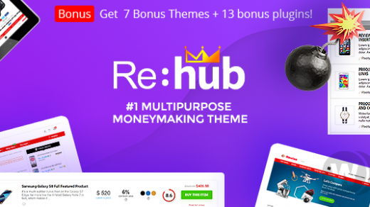 REHub v9.6.6 NULLED-通用模板商店WordPress主题破解版下载缩略图