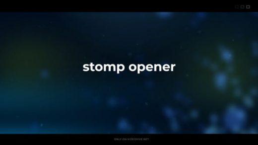 AE模板-动态快速介绍现代开场幻灯片放映预告片标题版式视频模板开场stomp opener缩略图