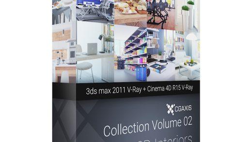 3D室内设计– CGAxis收藏第2卷是使用V-Ray的3ds max 2011和使用V-Ray的Cinema 4D R15的内部可视化场景的集合渲染缩略图