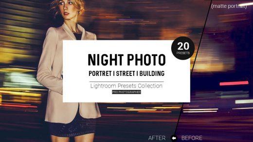 人像预设夜间照片Lightroom预设肖像城市建筑街道日落lr预设缩略图