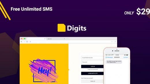下载Digits v6.11.0.2-WordPress手机号码注册和登录免费缩略图