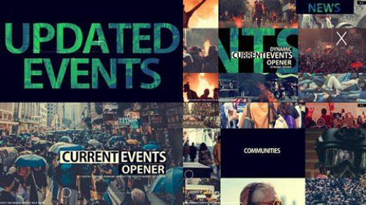 AE模板-新闻介绍和时事开场 News And Current Events Opener缩略图