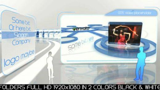 AE模板-创意文件夹产品媒体展示企业未来全高清优雅的视频展示蓝色黑白folders-145356缩略图