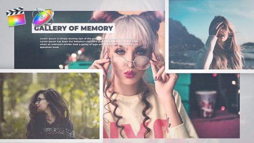 FCPX模板- 视频模板开场Apple Motion模板Gallery Of Memory PR模板缩略图