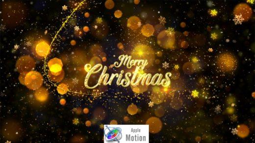 圣诞节-Apple Motion 电影风格的圣诞节标题动画缩略图