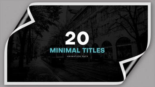 Premiere模板-20个独特的原始标题动画企业平面促销简单文字动画版式minimal itles缩略图