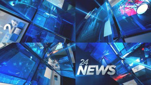 AE模板-动态新闻开场模式3D新闻广播设计频道介绍包装图形元素缩略图