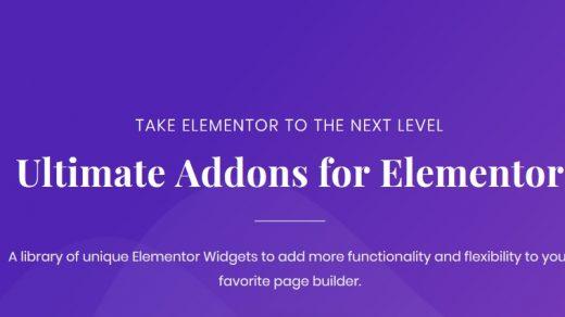 适用于Elementor Pro v1.20.0的 Ultimate Addons WordPress插件缩略图