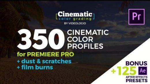 Premiere模板+AE预设:350种电影婚礼无人机复古创意黑白彩色高对比风格化调色预设 Cinematic Color Presets缩略图