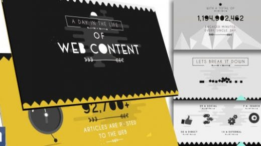 AE模板-版式网页内容图形信息图表-独特的版式infographics unique typography缩略图