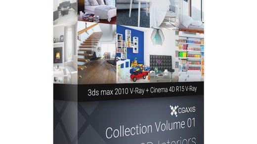3D室内设计– 3ds max 2010 + V-Ray +Cinema 4D R15 + V-Ray的内部可视化场景的渲染集合缩略图