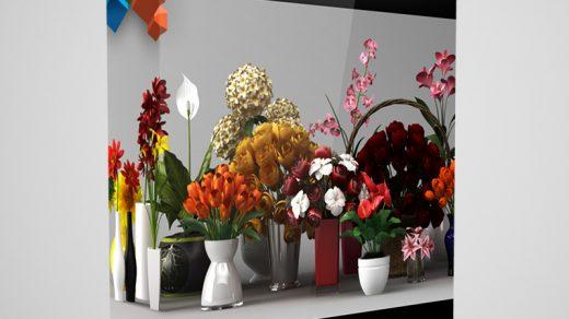 CGAxis模型第6卷花包含25个高度详细的3D模型缩略图