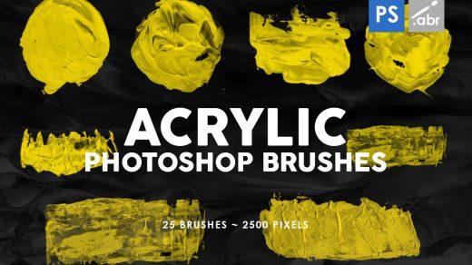 26种丙烯酸形状Photoshop印章笔刷缩略图