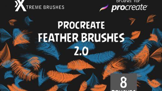 Procreate羽毛笔2.0 惊人逼真的8个羽毛笔刷缩略图