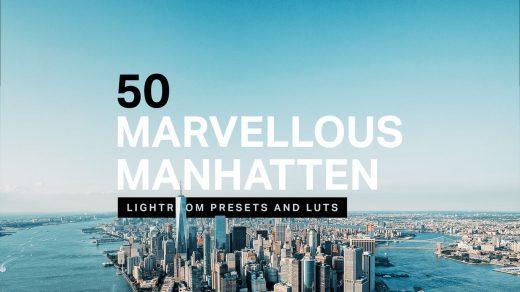 旅行博主明亮50个曼哈顿Lightroom预设PR/PS/FCPX/达芬奇/AE/LUT预设缩略图