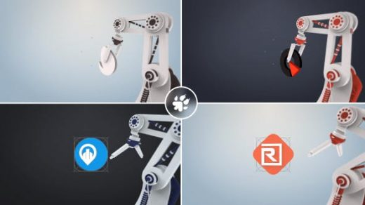AE模板-企业机械臂3D建筑师介绍商标制造业机械生产机器人机械臂机械手缩略图