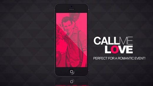 AE模板-阿莫尔苹果手机吻爱豪华派对浪漫节情人开瓶器Call Me Love缩略图
