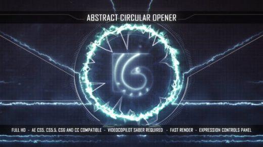 AE模板-抽象的圆形开瓶器抽象电影能源开瓶器粒子科幻Abstract Circular Opener缩略图