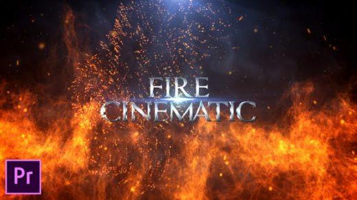 PR模板-电影预告片动作视频消防电影标题-Premiere Pro缩略图