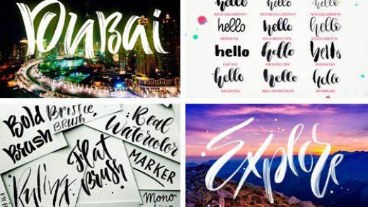25个字母&书法Procreate笔刷套装缩略图
