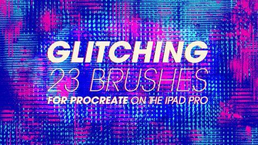 80/90年代复古效果闪光Procreate笔刷套装缩略图