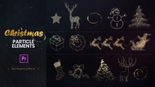 PR模板-Premiere Pro的圣诞节粒子元素缩略图