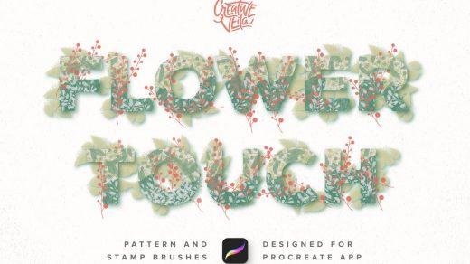 花卉叶子图案&印章Procreate笔刷缩略图