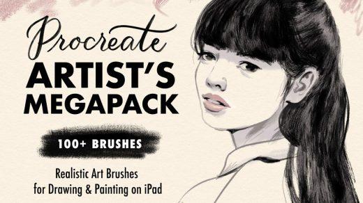 100+艺术/水彩绘画Procreate笔刷巨无霸套装缩略图