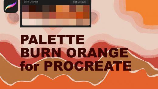 适用于Procreate的橙色调色板笔刷缩略图