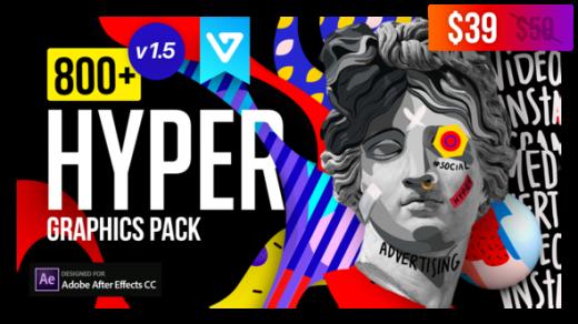 Hyper –超图形包背景博客元素图形包ins标题过渡排版Graphics Pack V1.5缩略图