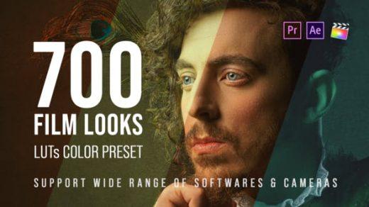 700个电影外观– Pixflow的LUT颜色预设包| VideoHive 25157078缩略图