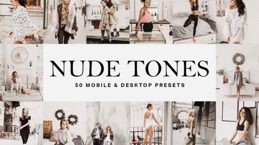 Vogue时尚人像电影色调LR预设/LUT预设 Nude Tones Lightroom Presets缩略图