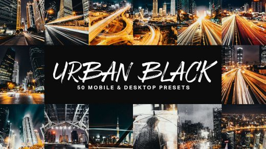 50个城市黑色Lightroom预设LUT Urban Black Lightroom Presets缩略图