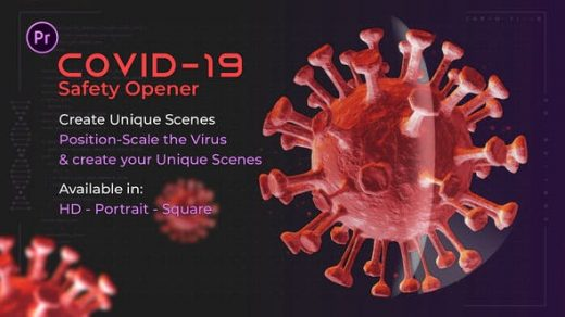 PR模板-3D传染新冠病毒感染Gr开瓶器暴发大流行病毒缩略图