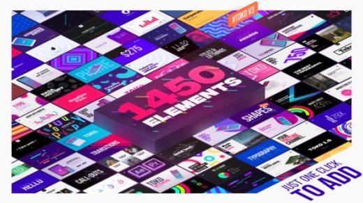 AE脚本-1450+即用型图形元素logo动画时尚排版包装字幕条转场背景缩略图