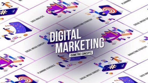 AE模板市场营销概念MG图形高品质动画解释视频元素制作缩略图
