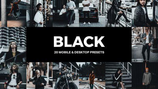 20旅行街拍城市哑光黑金工业胶片LR预设/旅拍视频调色LUT预设缩略图