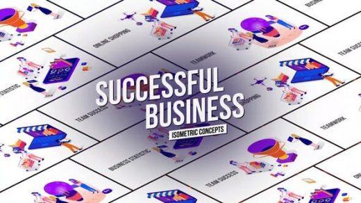 AE模板成功商业企业购物平台解释MG图形动画效果演示图标缩略图