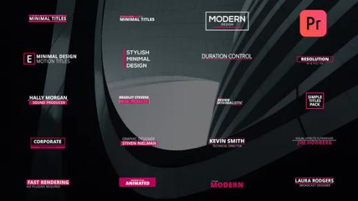 PR模版-企业优雅平面极简主义现代简单文字动画版式时尚标题缩略图
