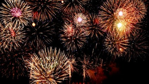 五彩缤纷的焰火活动庆典视频素材缩略图
