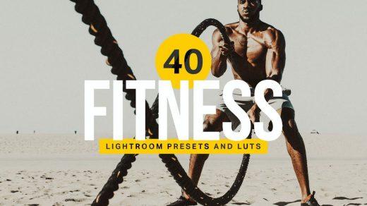 40个健身Lightroom预设和LUT缩略图