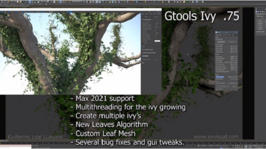 Gtools Ivy Generator 0.75 Maxscript为3Ds Max生成常春藤缩略图