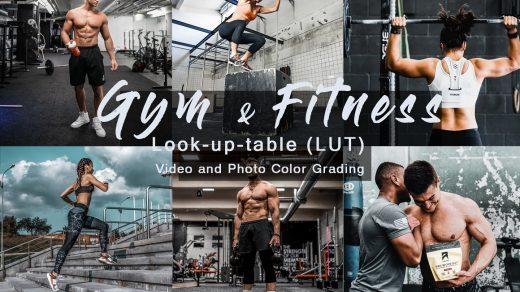 LUT预设,健身房与健身运动人像LUT预设-健身运动视频调色LUT预设 ,效果图 LUT预设下载