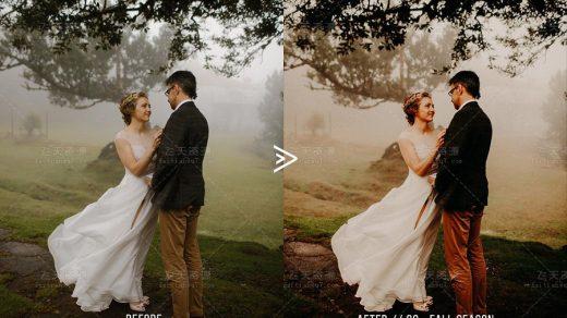 28个旅行婚纱婚礼跟拍后期电影效果 LUTs 预设缩略图