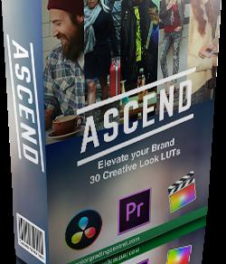 Color Grading Central 价值199美元的电影预设包:ASCEND LUTs Pack缩略图