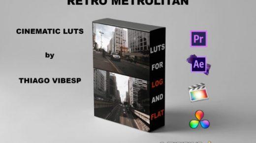 LUT预设,Thiago Vibesp –复古都市电影色调LUT预设支持AE/PR/FCPX/达芬奇 ,效果图 LUT预设下载