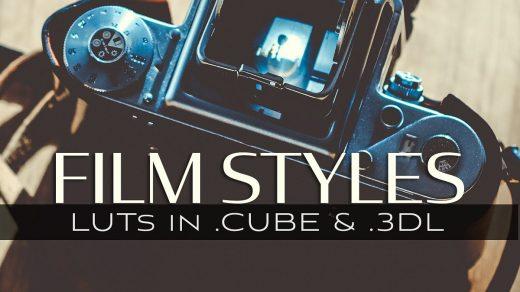 LUT预设,10个3D LUT-电影胶片风格视频调色3D LUT预设支持AE/PR/FCPX/达芬奇 ,效果图 LUT预设下载